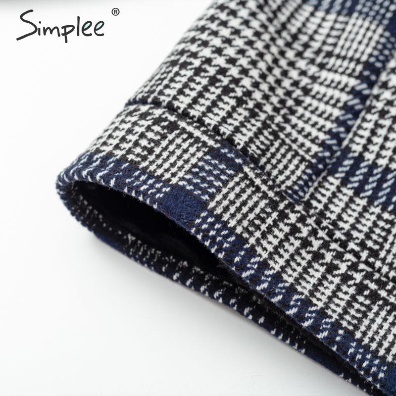 Image 5 - Simplee Faux fur patchwork plaid coat women Autumn winter buttons  furry female short jackets Chic streetwear ladies warm coatsFaux Fur