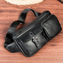 Fashion PU Leather Crossbody Bags men casual messenger bag Small Designer Male Shoulder Bag Chest Pack diiwii new brand designer fashion genuine leather sling chest pack men messenger crossbody bag vintage shoulder bags for male