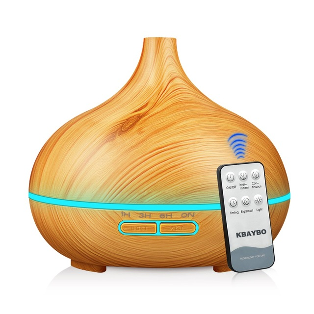 550ml Essential Oil Air Humidifier Remote Control Diffuser Aroma Lamp Aromatherapy Electric Humidifier