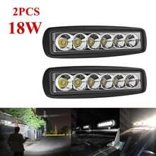 2 sztuk/partia 18W wodoodporny samochód LED światła robocze Bar powodzi/Spot Worklight dla Auto łódź ciężarówka SUV UTE ATV Offroad...
