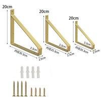2Pcs supporto per mensola galleggiante staffa triangolare decorazione staffe per pareti treppiede creativo scaffale per libri telaio di supporto fisso