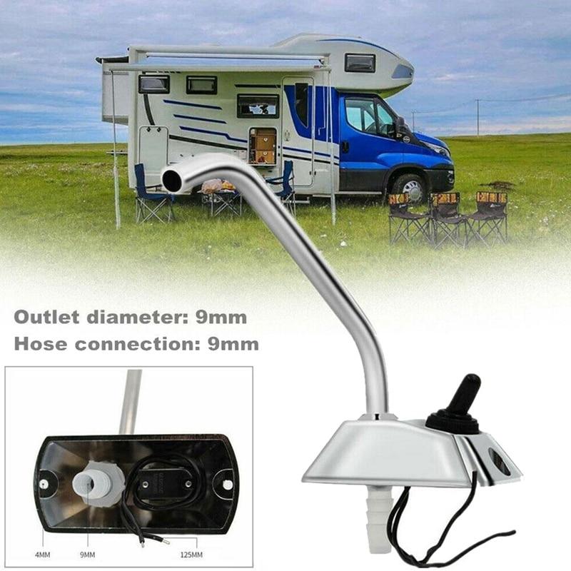 RV Marine Kitchen Sink WaterTap 12V 360 Degree Rotation Faucet Tap for RV Camper Caravan Accessories