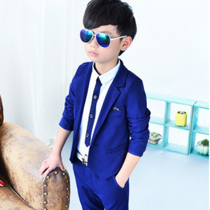 Formal Party Wear Boys Suit for Wedding Clothes Fashion Classical Kids Spring Autumn Baby Boy Jackets Pants 2pcs Clothes 3-10Y