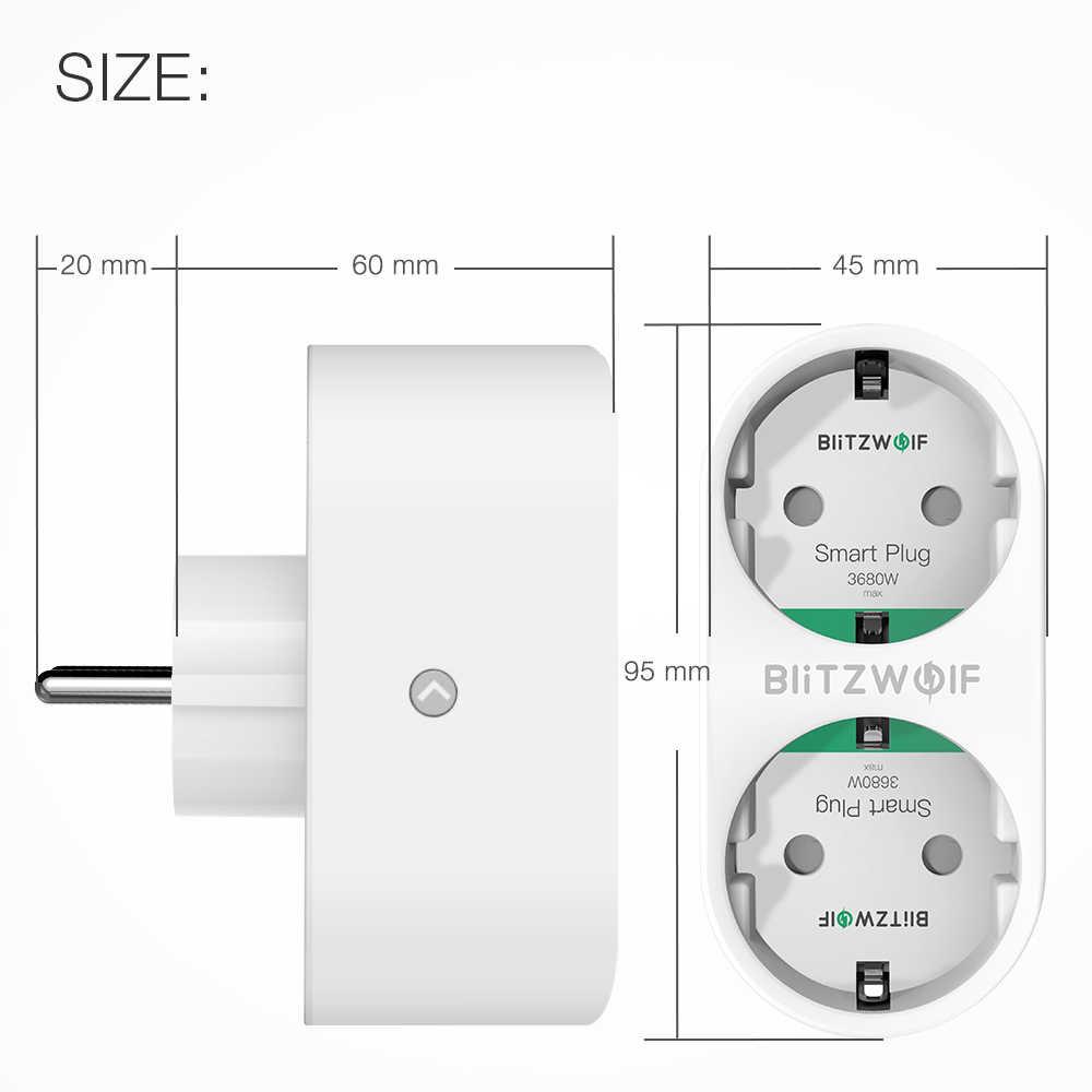 BlitzWolf BW-SHP7 3680W 16A הכפול Outlet האיחוד האירופי Plug החכם WIFI שקע APP שלט לעבוד עם גוגל עוזר/אמזון Alexa