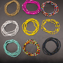 Beach Mixed color multi-layer Bead Belly Chains for Women Fashion Body Chain Jewelry Elastic Waist Chain Summer Waistband цена и фото