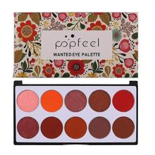 Popfeel 10 Color Blush Palette Professional Long Lasting Women Face Makeup