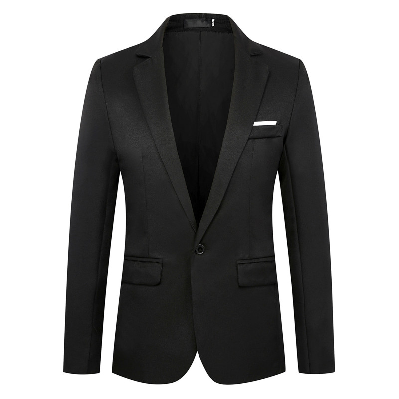 Suits Mens Jacket New Fashion Blazer Homme Solid Color Men Brand Four Seasons Casual Slim Fit Business Blazer Masculino Coat