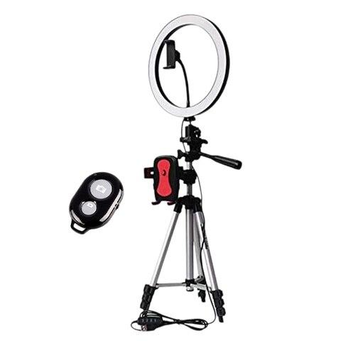Suporte do Telefone Tripé com Luz Anel com Bluetooth Obturador para Câmera Telefone de Maquiagem Selfie Fotografia Youtube Led Mod. 1477805