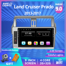 2DIN Android 9.0 Car Radio For Toyota LAND CRUISER PRADO 150 2013-2017 Car Multimedia No 2 Din Video Player Navigation GPS DVD zaixi car android system 1080p ips lcd screen for toyota land cruiser prado 150 2014 2017 car radio player gps navigation wifi
