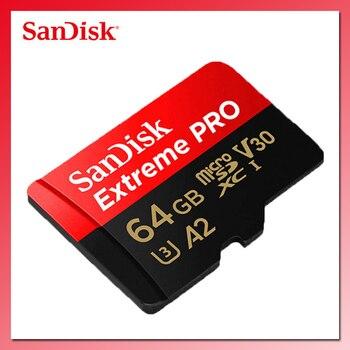 Карта памяти SanDisk Extreme PRO, 128 ГБ, 256 ГБ, 400 ГБ, 64 ГБ, U3, 4K, A2, V30, TF-карта, 32 ГБ, 170 Мб/с, microsd, SDHC, SDXC