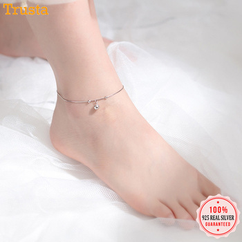Trustdavis 925 Sterling Silver Women's Fashion Chinese Charm Wish Bell Anklets For Women Girls Birthday Gift 925 Jewelry DS1483 1