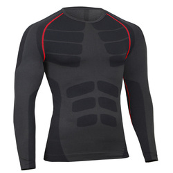 الرجال ضغط ضيق طويل كم سريعة تجفيف الملابس t قميص تيشرت رياضية الجوارب
