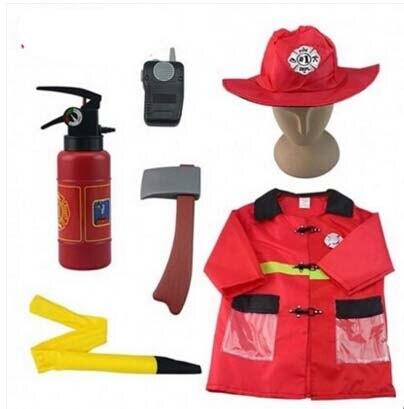 Бесплатная доставка, Пожарный Сэм, детский Косплей-костюм на Хэллоуин, маскарадный костюм для девочки и мальчика, косплей-вечеринка на Хэлл...