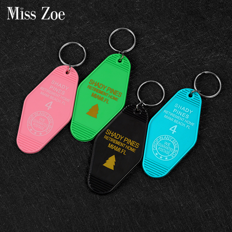 Colorful Hotel Room Keytag Keychain Key Chain Cool Classic Movie Accessories Jewelry Dropship Wholesale Gift For Fans Men
