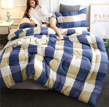 Luxury Winter Quilt Colorful Comforter Bedroom Thick Warm Quilted New Adults Duvet Multiple Styles Bedding Comforter Blankets