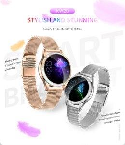 Image 2 - KW20 스마트 시계 여성 IP68 방수 손목 시계 심장 박동 블루투스 시계 여성 팔찌 2019 레이디 시계 VS KW10 Smartwatch.