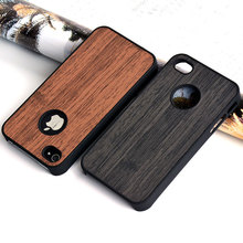 Case for iphone 4 4s funda wood Bamboo pattern leather skin hard plastic classical Vintage phone cover for iphone 4s case coque