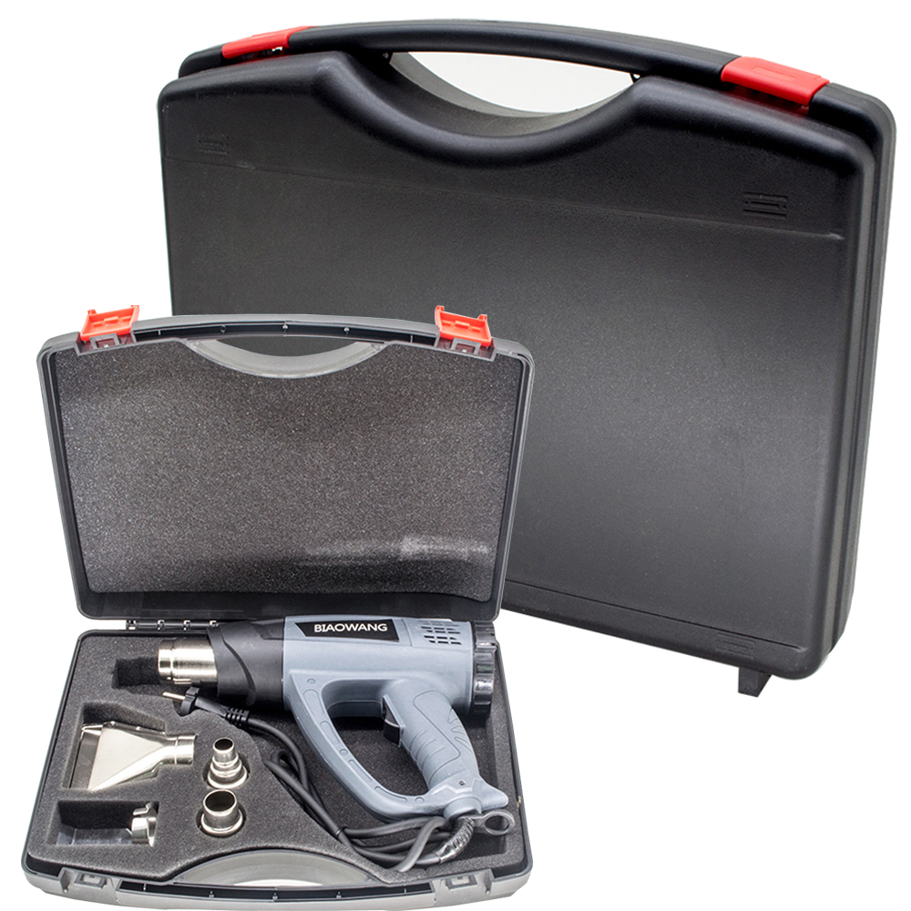 PP Plastic Suitcase Portable Hardware Tool Box Case With Foam For Heat Gun Hair Dryer Hot Air Guns Multifunction
