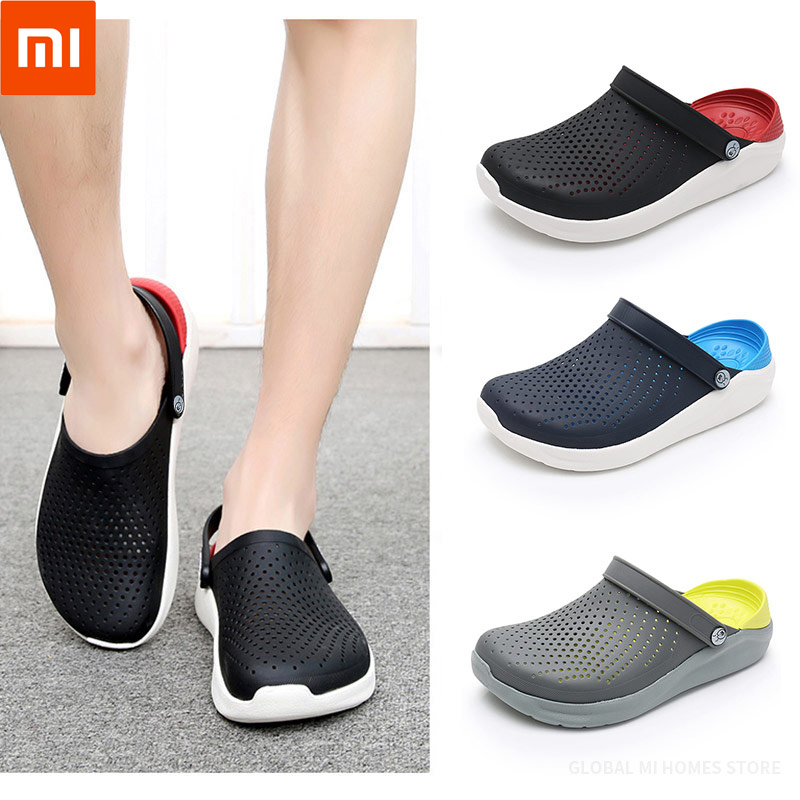 Xiaomi Youpin MELAMPUS Men's Sandals, Slippers, Non-skid Baotou Beach Shoes Flat-heeled Couple Sandals 48