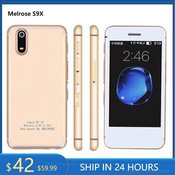 Melrose S9X Android 6.0 Ultra-slim Mini Smartphone 2.5 inch 1G RAM 8GB ROM Quad Core Bluetooth Camera WiFi  Cell Phones