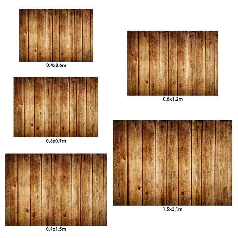 ปฏิบัติ Retro ไม้พื้นผิวบอร์ดการถ่ายภาพฉากหลังผ้าฝีมือดียาวอายุการใช้งานวิดีโอสตูดิโอถ่ายภาพ Props