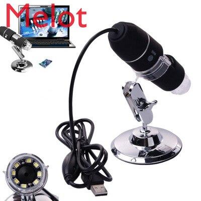 DHL 50set/lot 500X 1000X Microscope Portable USB Digital 2.0 MP Microscope Endoscope Magnifier Camera 8 LED