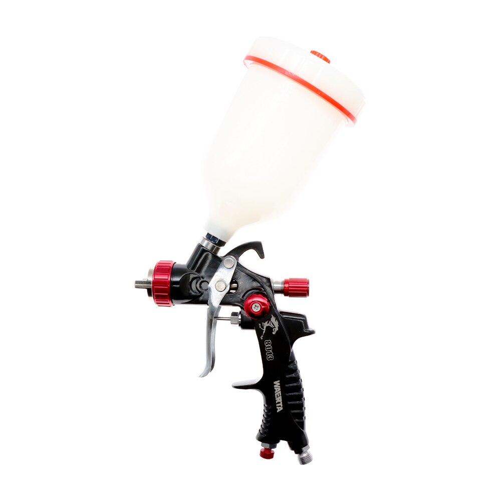 Tools : waerta716BProfessional HVLP 600ML 1 3mm Nozzle Gravity Pneumatic Air Paint Spay Gun For Car Auto Repair Tool Painting Kit
