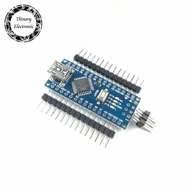 Hot sale ! 20pcs/lot Nano 3.0 controller compatible for arduino compatible nano CH340 USB driver NO CABLE Thinary Atmega328P