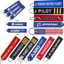 Boeing chaveiro aviador, chaveiro personalizado para presentes de aviação, aviação, airbus, automóvel, bordado, aviador