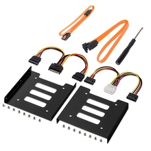 SSD Data-Cables Hard-Disk Drive-Mounting-Kit SATA To with And Bracket Internal
