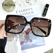 2020 Fashion Square Oversized Sunglasses For Women Vintage Luxury Brand Big Frame Gradient Lens Sun Glasses Men Female UV400