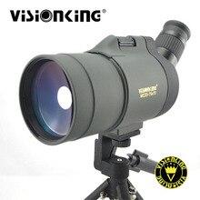 Visionking 25-75x70 MAK Охота Зрительная труба водонепроницаемый BAk4 Монокуляр автогид для телескопа для наблюдения за птицами/гольфа с треногой