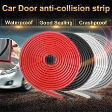 5M Universal Car SUV Wheel Rubber Eyebrow Protector Lip Arch Trim Fender Strip Carbon Fiber Decorative