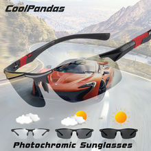 Top Aluminum Magnesium Frame Driving Photochromic Sunglasses Polarized Sun glasses Men Day Night Vision oculos de sol masculino
