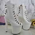 4000514121649 - Leecab 20 CM/8 pulgadas igual que en la imagen zapatos de baile de poste tacones altos bota de baile de poste