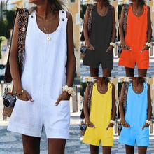 Новые летние женские короткие комбинезоны для отдыха карманами