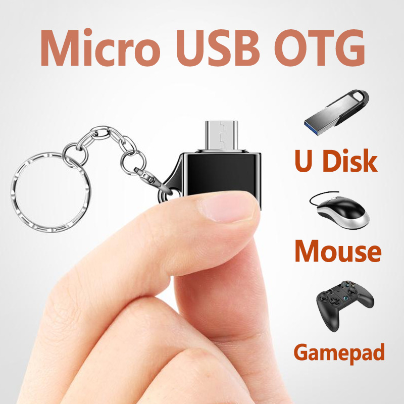 FONKEN Micro USB OTG Adapter Android Micro Converter for Mobile Phone Tablet Micro Cable OTG Plug Charge Data Disk Connector