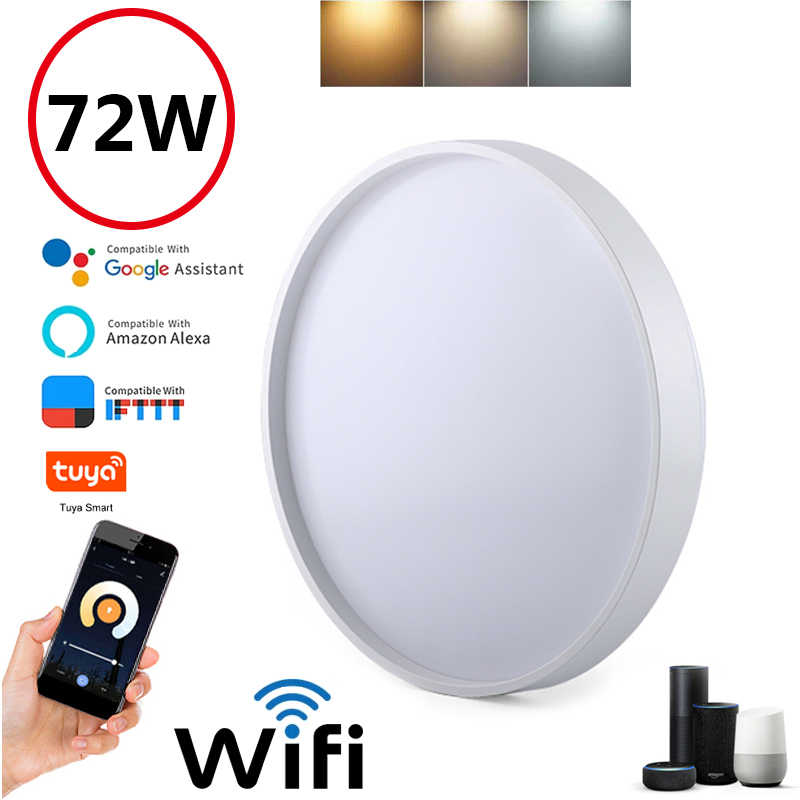Xuuyuu RGBW LED Downlight Smart Ceiling Multi Color Lighting WiFi Voice App Control Lamp Compatible with Alexa GoogleHome