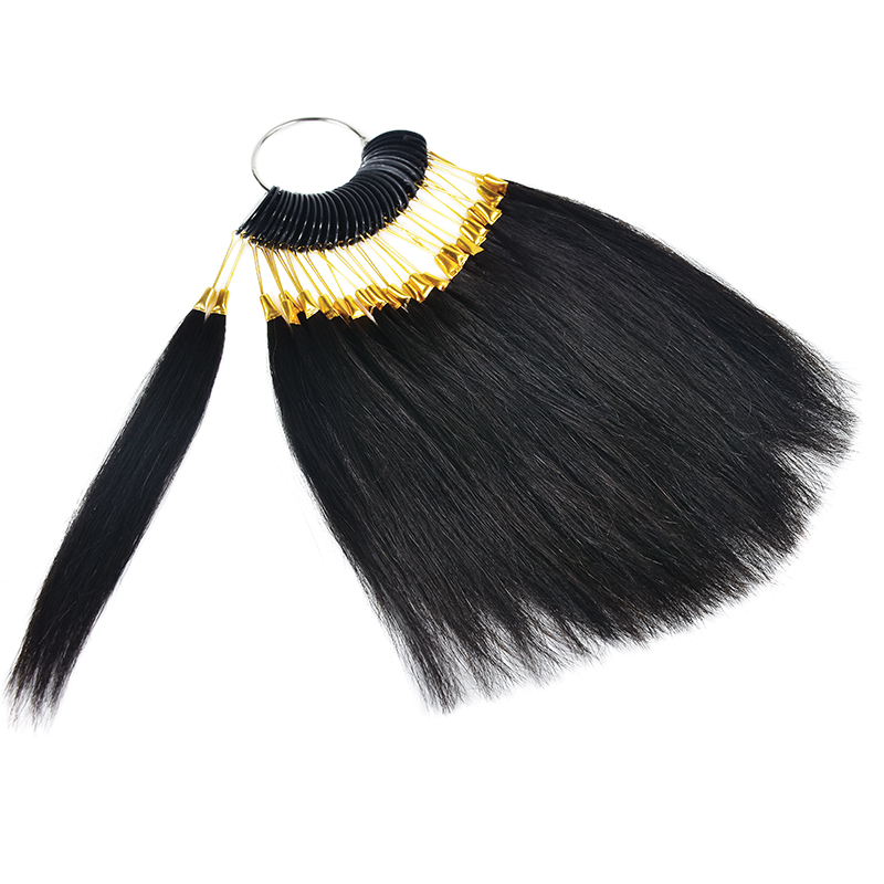 30pcs/lot 100% Natural Human Hair Color Rings Color Chart / Hair Extension Tools/Hair Accessory