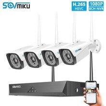 H.265 1080P Drahtlose CCTV System 4 stücke 2MP Outdoor Wifi IP Kamera 8CH NVR Recorder Video Sicherheit Kamera System überwachung Kit