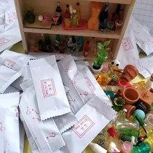 10 pçs 1:12 casa de bonecas miniatura acessórios sorte cego sacos dollhouse modelo brinquedos presente