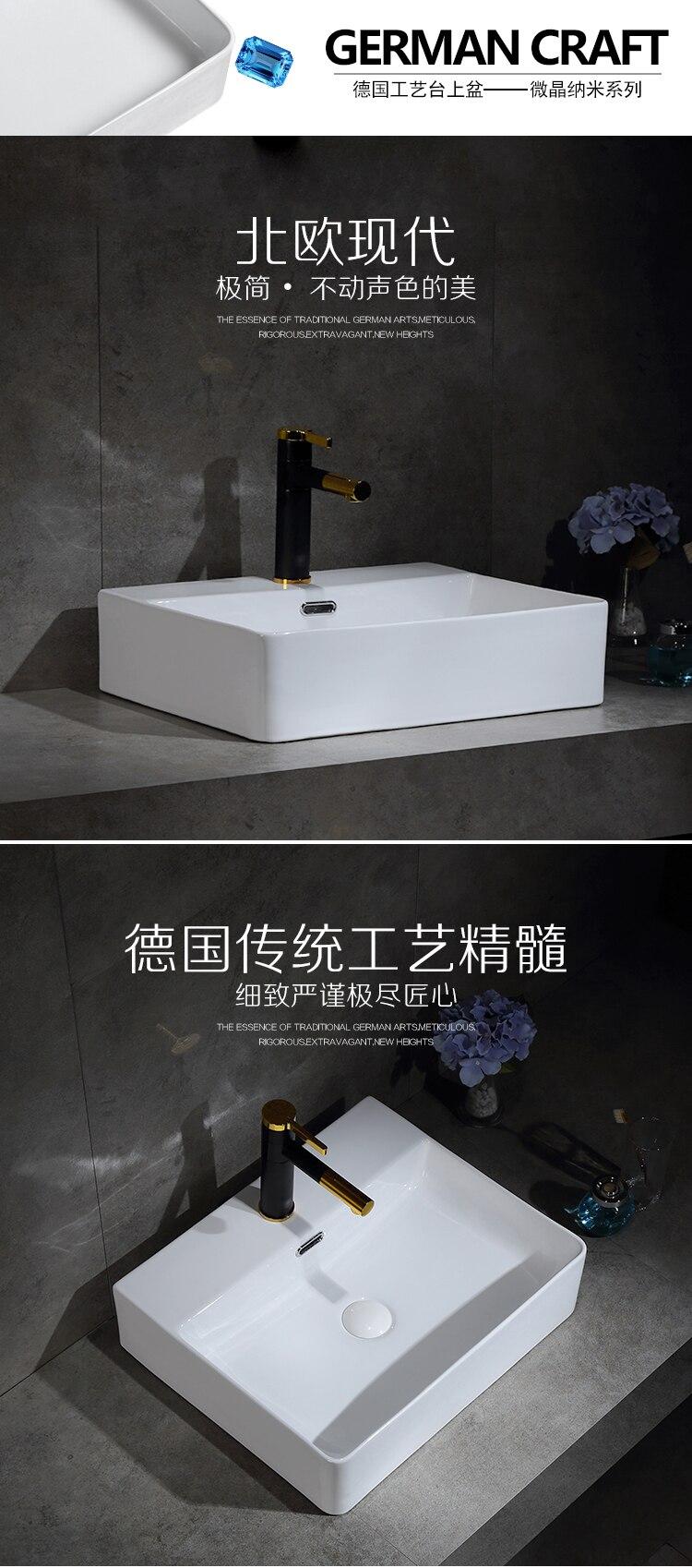 Керамический умывальник для ванной комнаты и туалета раковина белый керамический врезной умывальник с одним отверстием аксессуары для ванной комнаты раковины-столешницы