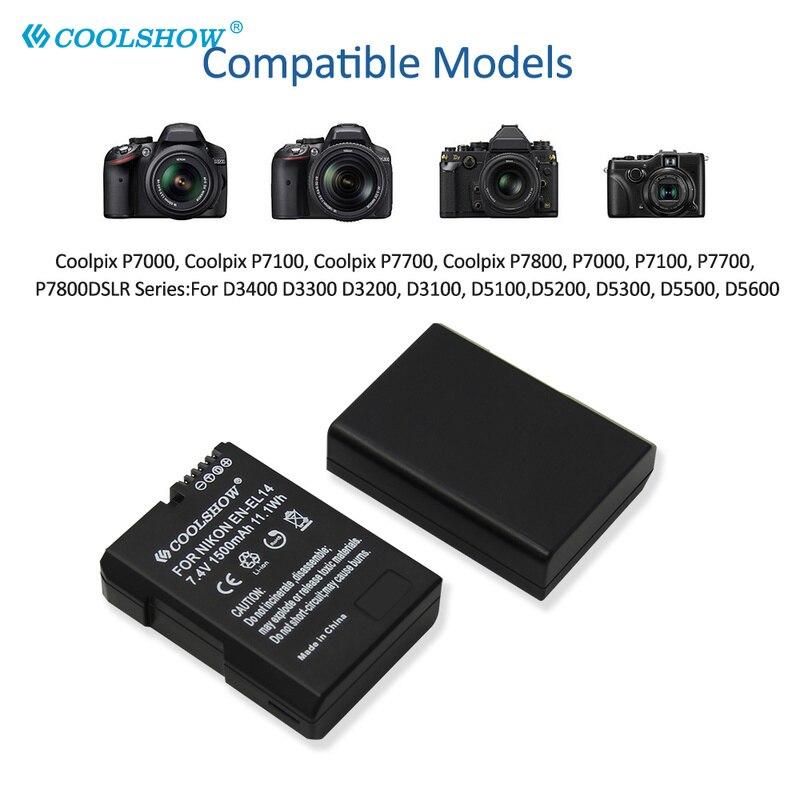 EN-EL14 Batterij 1500Mah Voor Nikon P7000 D5600 D5100 D5200 D3100 D3200 D3300 D3400 D3500 D5300 D5500 Batterie En EL14