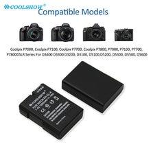 Batterie EN EL14 EN-EL14 mAh pour Nikon P7000 D5600 D5100 D5200 D3100 D3200 D3300 D3400 D3500 D5300 D5500, 1500