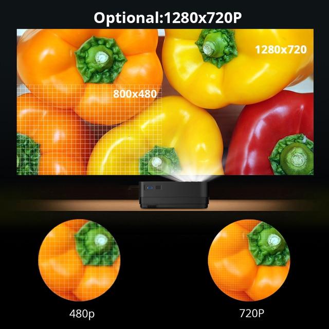BYINTEK Mini Projector K7 ,1280x720 P,Smart Android Wifi Video Beamer 5