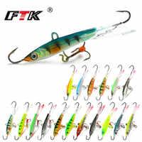 FTK Colorful Winter Ice Fishing Lure Balancer 1PC 6.5cm/22g 5.5cm/12g 5cm/12g Hard Bait Pesca Tackle