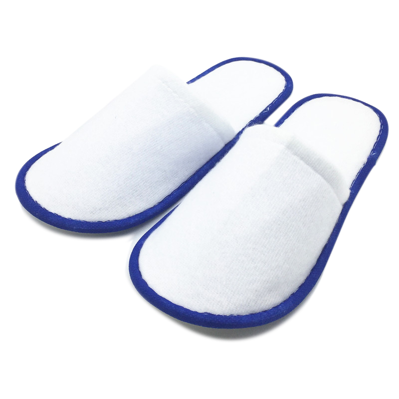 20 Pairs Of White Towelling Hotel Disposable Slippers Terry Spa Guest Shoes 5 Colors