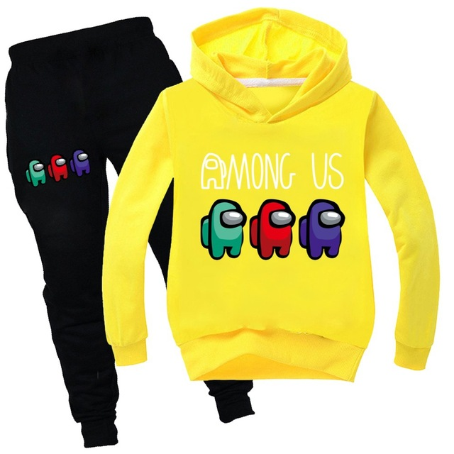Baby Clothing Sets Children 2-16 Years Birthday suit Boys Tracksuits Kids Among us Sport Suits Hoodies Top +Pants 2pcs Set
