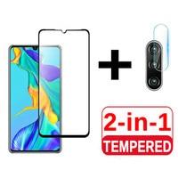 Protector de pantalla de cristal templado 3D 2 en 1 para Huawei, P40, P30, P20 lite, P20, P30, P40 Pro