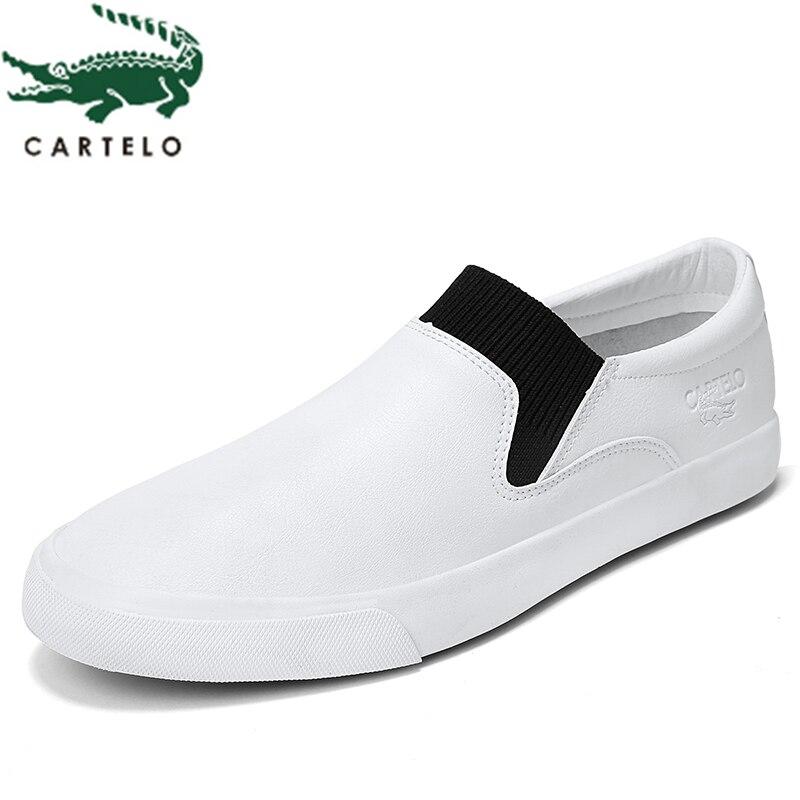 CARTELO Fashion Casual Men's Shoes Korean Version Of The Comfortable Men's Lazy Set Of Feet A Pedal Student Zapatillas Hombre